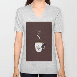 I Love You A Latte Unisex V-Neck