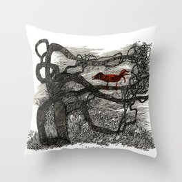 I am colorless Throw Pillow