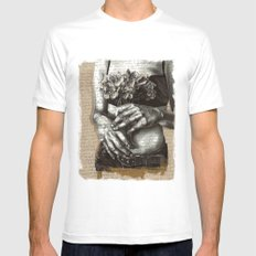 Repent and Give MEDIUM Mens Fitted Tee White