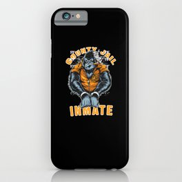 County Jail Inmate iPhone Case