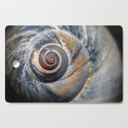 Blue and Gold spiral seashell Cutting Board