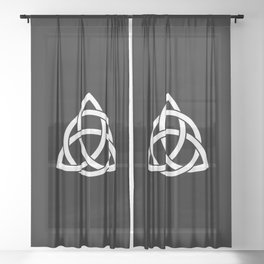 Celtic Trinity Knot Sheer Curtain