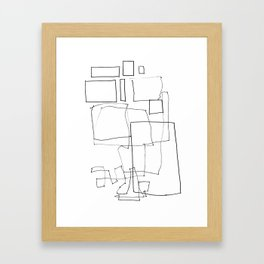 Line01 Framed Art Print