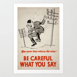 World War Two Propaganda Poster Art Print