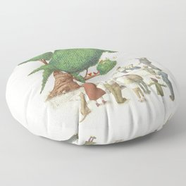 The Parrot Tree Floor Pillow