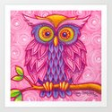 Owl in Pink by cindystrecker