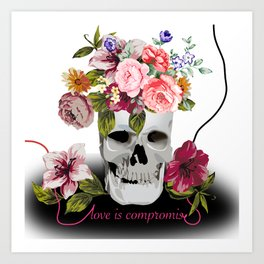 Love is compromise Art Print