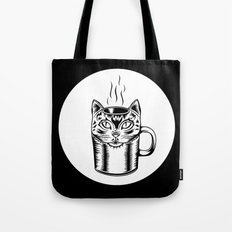 Coffee Cat Tote Bag
