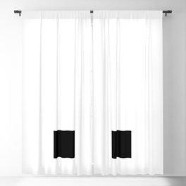 Full Stop (Black & White) Blackout Curtain