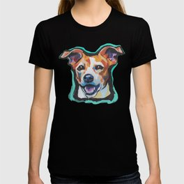 Fun Jack Russell Terrier Portrait bright colorful Dog  Pop Art by LEA T-shirt