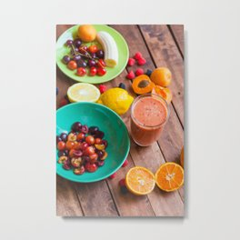 Summer Fruits Smoothie Metal Print