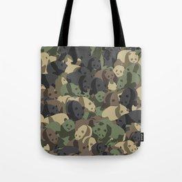 Panda campuflage Tote Bag