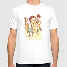 The Giant Mushrooms of Lake Myvatn Mens Fitted Tee White MEDIUM