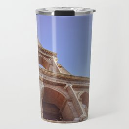 Close-up of Colosseum in Rome, Italy Travel Mug