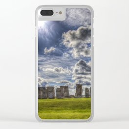 Stonehenge Summer Clear iPhone Case