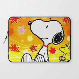 Snoopy saw the sunset Laptop Sleeve