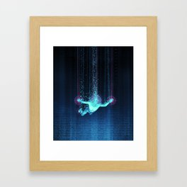 Virtual Reality Diver Framed Art Print