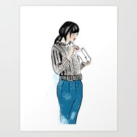 macaron Art Prints featuring Macaron by Iva Zugic Art