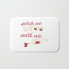 Watch me lay Bath Mat