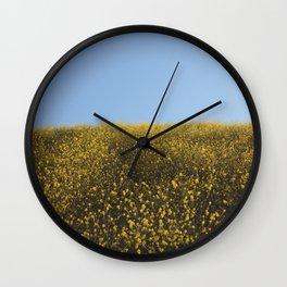 Mustard Flowers Wall Clock