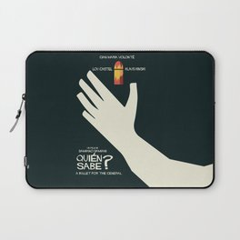 Quién sabe? Movie poster with Klaus Kinski, Gian Maria Volonté, Lou Castel, by Damiano Damiani Laptop Sleeve