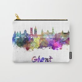 Ghent skyline in watercolor Carry-All Pouch