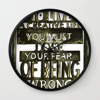 creativity Wall Clocks featuring Creativity  by Lam Designs