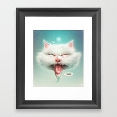 The Water Kitty Framed Art Print