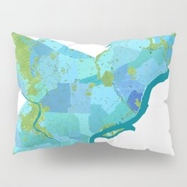 Philadelphia Neighborhoods Pillow Sham