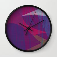 reassurance Wall Clocks featuring Feel the texture II by Magdalena Hristova