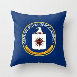 CIA Flag Throw Pillow