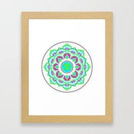 Spring Mandala   Flower Mandhala Framed Art Print