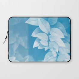 Leaves in Blue Laptop Sleeve