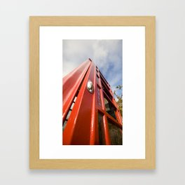 Before Cell Phones Framed Art Print