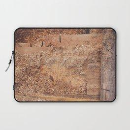 Wood layers sawdust texture Laptop Sleeve
