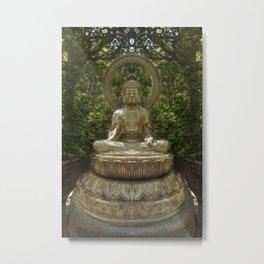 A Buddha in the Japanese Tea Garden, Golden Gate Park, San Francisco, California Metal Print