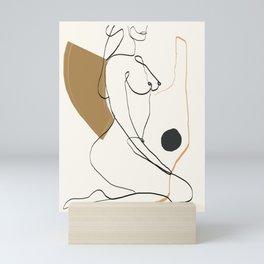 abstract nude 3 Mini Art Print