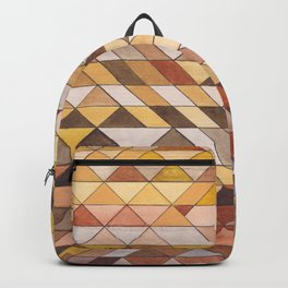 Triangle Pattern Fall Colors Backpack