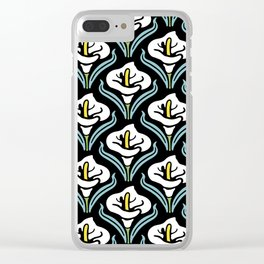Calla Lily Pattern Clear iPhone Case