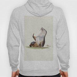 Sea Lion Watercolor Hoody