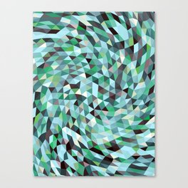 Green Blue Triangles Mosaic Circulation Canvas Print