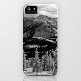 B/W Mountains iPhone Case