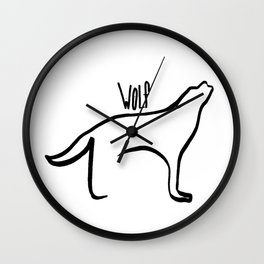 Simple Wolf Wall Clock