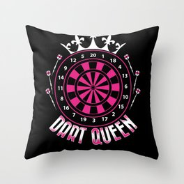 Dart Queen - Darts Player Throw Pillow