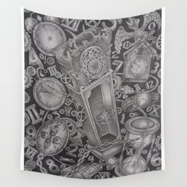 waste of time Wall Tapestry