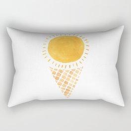 Sun Ice Cream Cone Rectangular Pillow