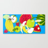 fruits Canvas Prints featuring fruits by Hobocats