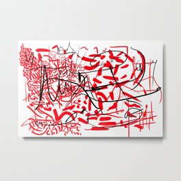 abstract typographic Metal Print