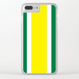 TEAM COLORS 10 ...YELLOW,GREEN Clear iPhone Case
