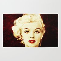marilyn Area & Throw Rugs featuring Marilyn  by CLE.ArT.